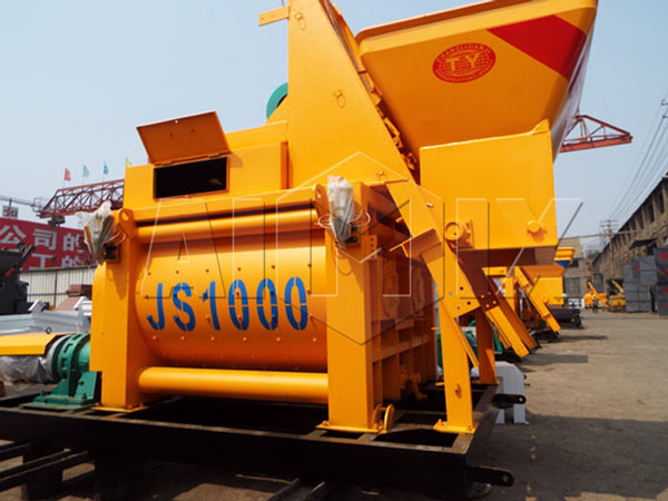 JS1000 Concrete Mixer for 50 and 60 m3/h Batching Plant