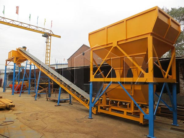 Belt Feeding of Dry Mix Concrete Plant