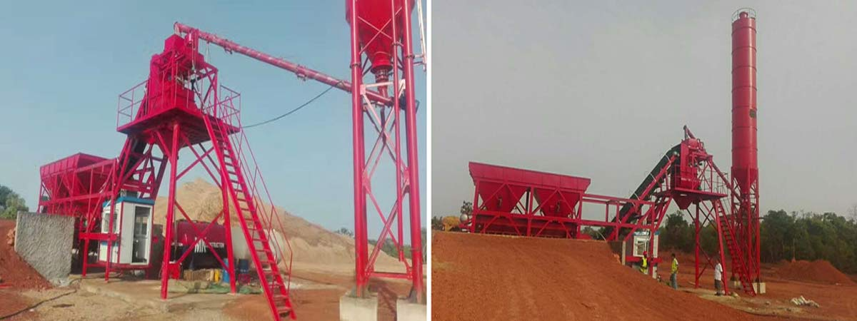 Portable Batching Plant in Construction Site