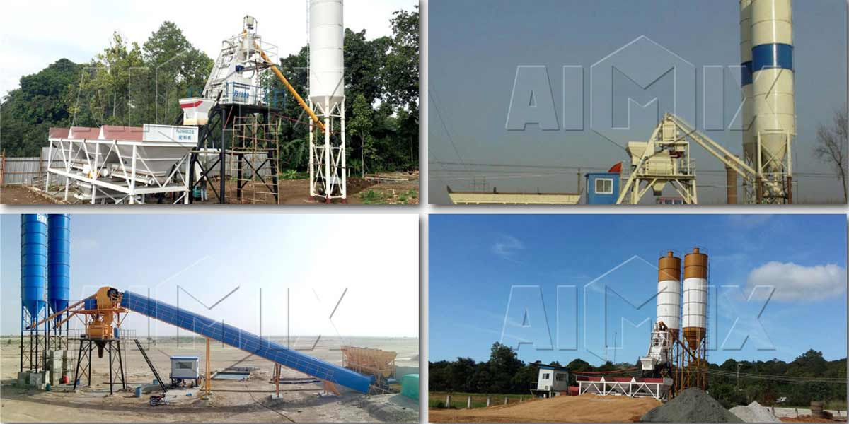 Small Concrete Batching Plant in Various Countries