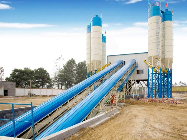 AJ-120 ready mix concrete batching plant